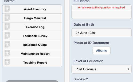 Mobile Forms for iPhone  iPod touch and iPad on the iTunes App Store