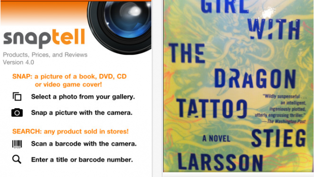 SnapTell for iPhone  iPod touch and iPad on the iTunes App Store