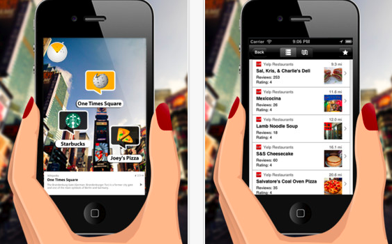 WIKITUDE Augmented Reality Browser for iPhone  iPod touch and iPad on the iTunes App Store