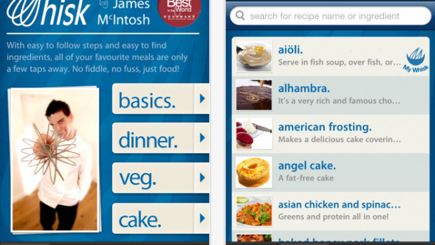 Whisk Cooking by James McIntosh for iPhone  iPod touch and iPad on the iTunes App Store