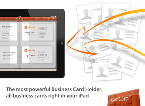 CamCard HD   The Professional Business Card Reader for iPad on the iTunes App Store