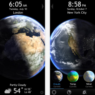 Living Earth   Clock   Weather for iPhone 3GS  iPhone 4  iPhone 4S  iPhone 5  iPod touch  3rd generation   iPod touch  4th generation   iPod touch  5th generation  and iPad on the iTunes App Store
