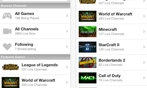 TwitchTV for iPhone 3GS  iPhone 4  iPhone 4S  iPhone 5  iPod touch  3rd generation   iPod touch  4th generation   iPod touch  5th generation  and iPad on the iTunes App Store