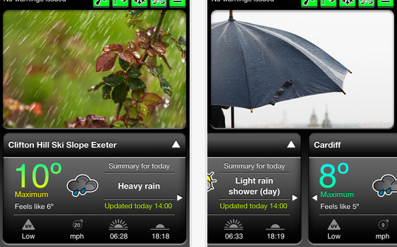 Met Office Weather application for iPhone  iPod touch and iPad on the iTunes App Store